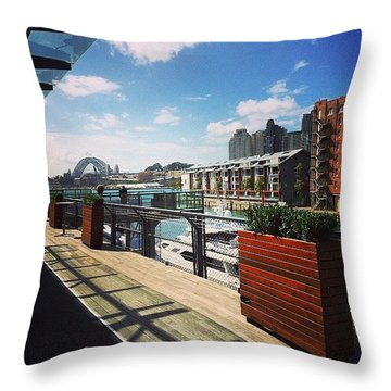 A Great Place To Be Working Throw Pillow