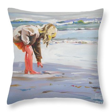 A Great Shell Throw Pillow