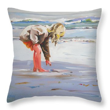 A Great Shell Throw Pillow