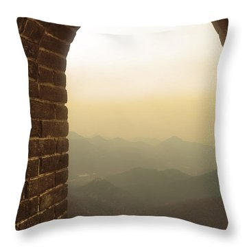 A Great View Of China Throw Pillow
