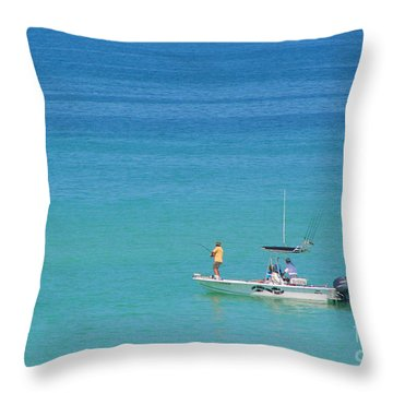 A Great Way To Spend A Day Throw Pillow by Mariarosa Rockefeller