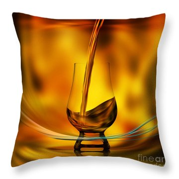 Throw Pillow featuring the digital art A Great Whisky by Johnny Hildingsson