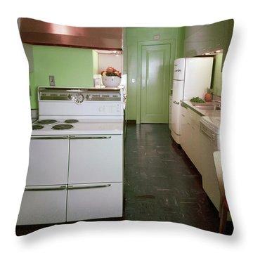 A Green Kitchen Throw Pillow