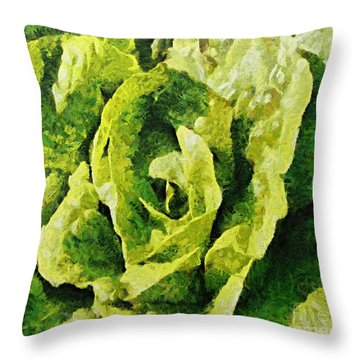 A Green Source Of Vitamins Throw Pillow by Dragica  Micki Fortuna