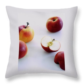 A Group Of Apples Throw Pillow