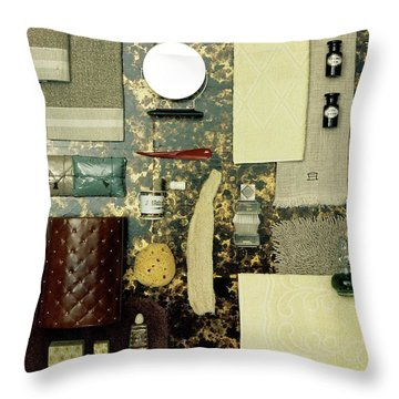 A Group Of Household Items Throw Pillow