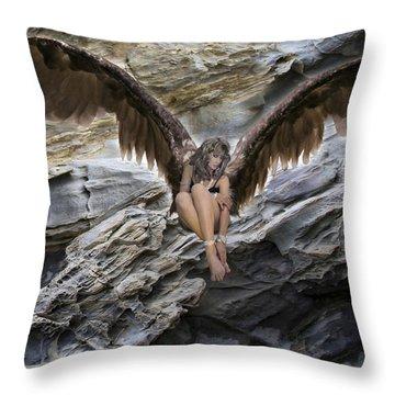 A Guardian Angel Throw Pillow