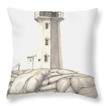 Throw Pillow featuring the drawing A Guiding Light by Patricia Hiltz