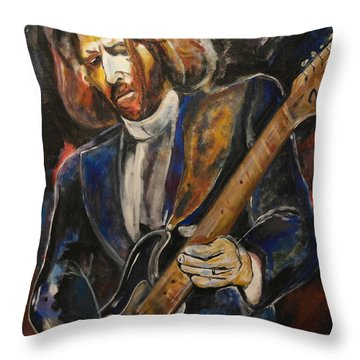 A Guitar God Speaks Throw Pillow by John W Barth
