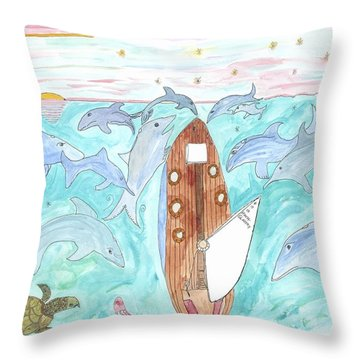 A Gull's View... Throw Pillow by Helen Holden-Gladsky