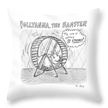 A Hamster Runs On A Wheel Thinking My Core Throw Pillow