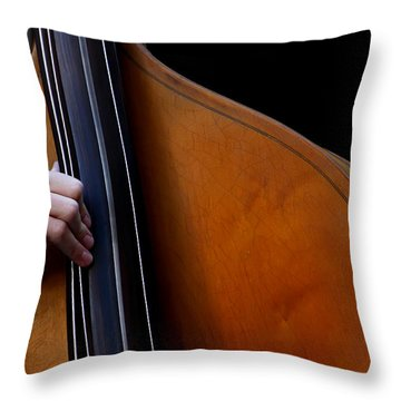 A Hand Of Jazz Throw Pillow