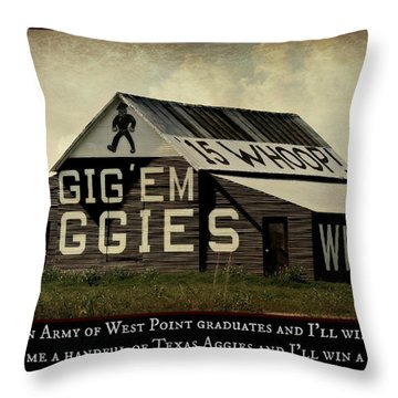 A Handful Of Aggies Throw Pillow by Stephen Stookey