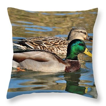 Throw Pillow featuring the photograph A Handsome Pair by Kathy Baccari