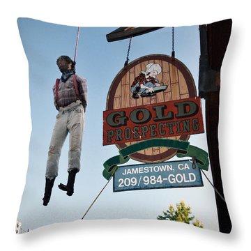 A Hanged Man In Jamestown Throw Pillow