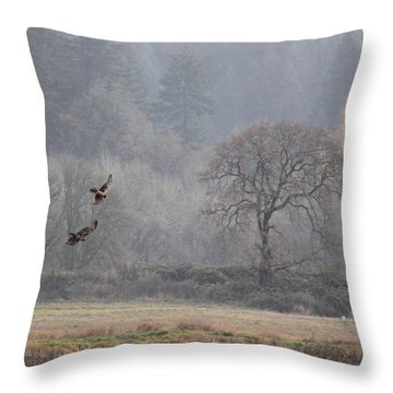 A Hawk's Paradise Throw Pillow by Angie Vogel