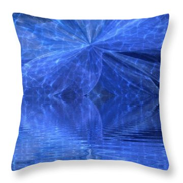 A Healing In Blue Living Waters Throw Pillow by Ray Tapajna