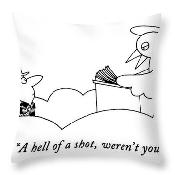 A Hell Of A Shot Throw Pillow
