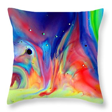 A Higher Frequency Throw Pillow