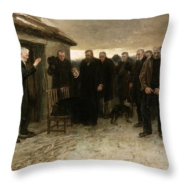 A Highland Funeral Throw Pillow