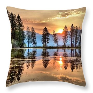 A Hint Of Fall Throw Pillow