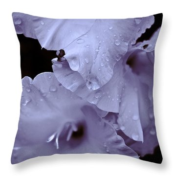 A Hint Of Purple Throw Pillow by Peggie Strachan