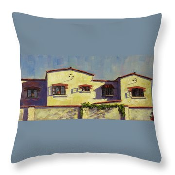 A Home In Barranco,peru Impression Throw Pillow