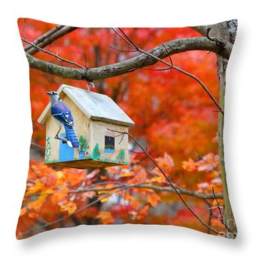 A Home In The Country Throw Pillow by Mariarosa Rockefeller