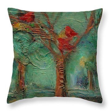 A Home In The Woods Throw Pillow by Mary Wolf