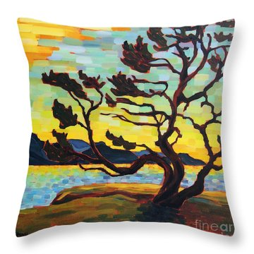 A Hornby Summer's Eve Throw Pillow