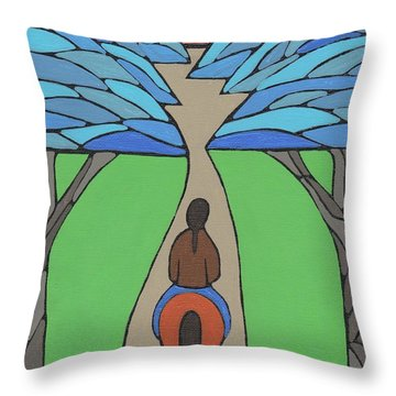 A Horse Of A Different Colour Throw Pillow by Barbara St Jean