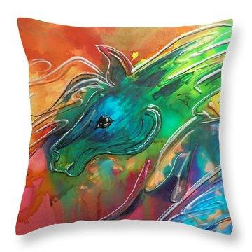 A Horse Of Course  Throw Pillow