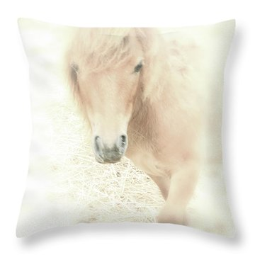 A Horse's Spirit Throw Pillow by Karol Livote