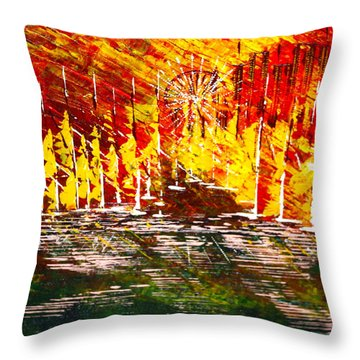 A Hot Summer Day.- Sold Throw Pillow by George Riney