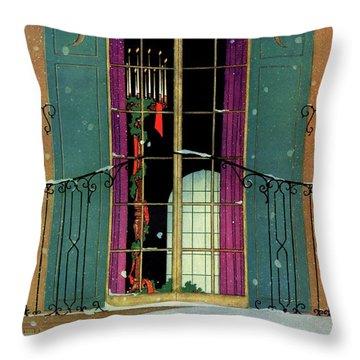 A House And Garden Cover Of A Christmas Throw Pillow