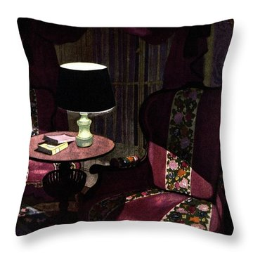 A House And Garden Cover Of A Lamp By An Armchair Throw Pillow