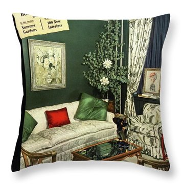 A House And Garden Cover Of Lady Mendl's Sitting Throw Pillow