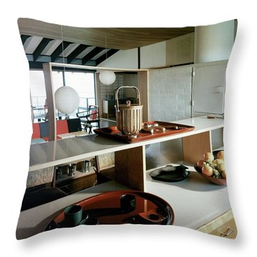 A House At Quantuck Bay Throw Pillow