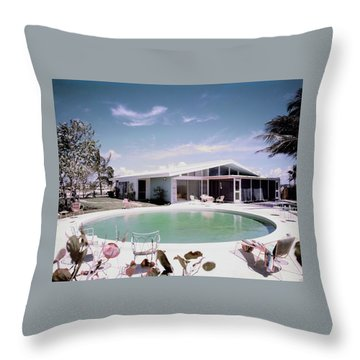 A House In Miami Throw Pillow