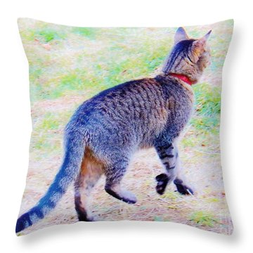 A Hunting We Will Go Throw Pillow