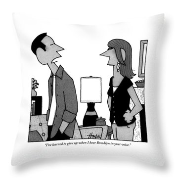 A Husband To His Wife Throw Pillow