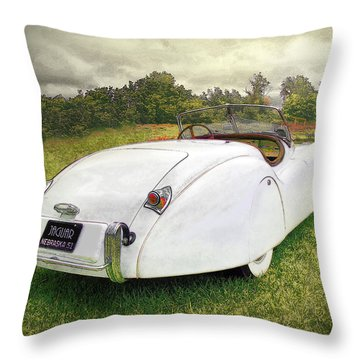 A Jag In The Park Throw Pillow