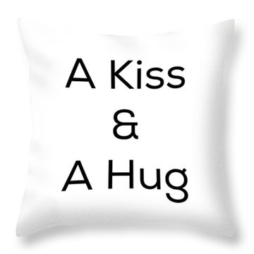 Throw Pillow featuring the photograph A Kiss And A Hug by Kim Fearheiley