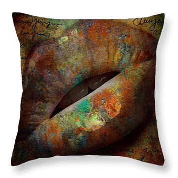 A Kiss Throw Pillow by Greg Sharpe