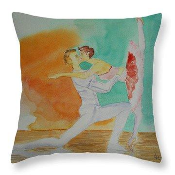 A Kiss In Ballet  Throw Pillow