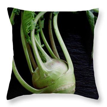 A Kohlrabi Throw Pillow