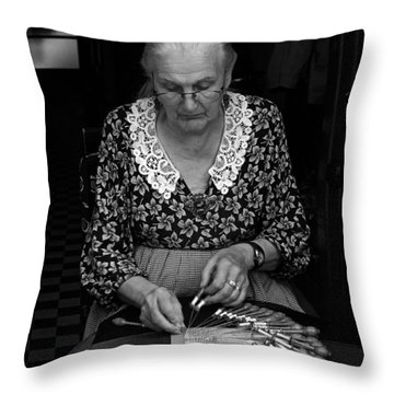 A Lacemaker In Bruges Throw Pillow by RicardMN Photography