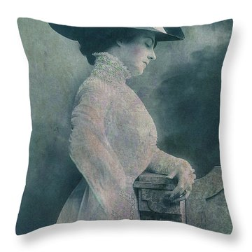 A Lady Ponders Throw Pillow by Sarah Vernon