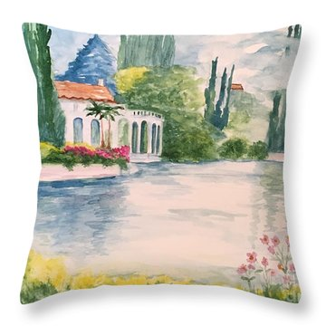 A Lake In Tuscany Throw Pillow