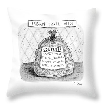 Urban Trail Mix Throw Pillow
